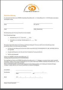 Beitrittsformular Förderverein