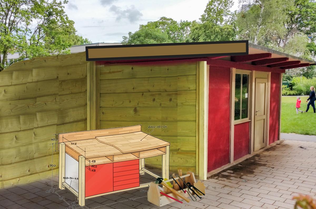 Beispielplanung Holzwerkstatt